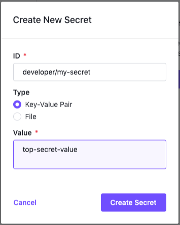 Secret ID Keypair