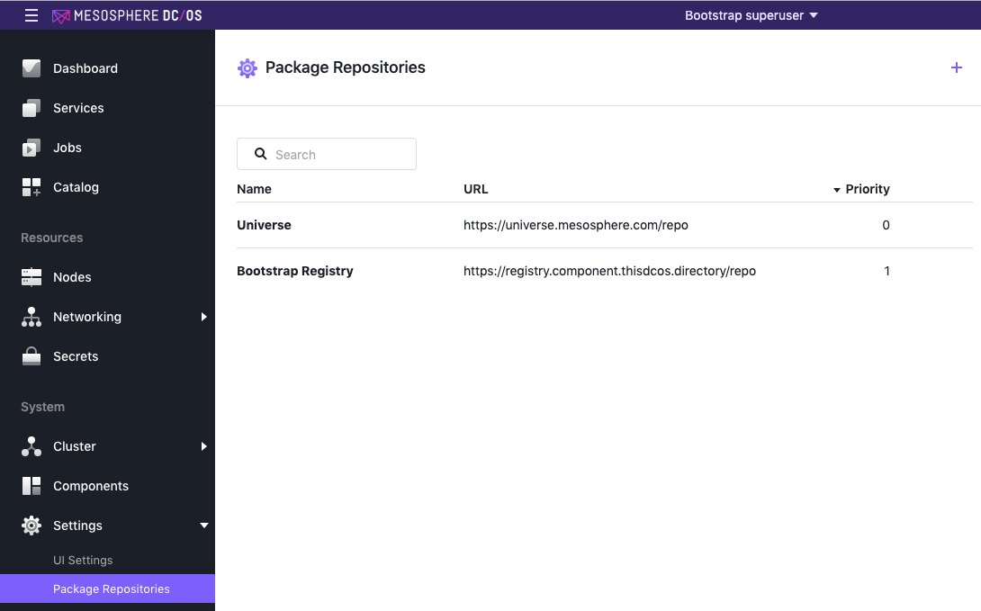 Package repositories