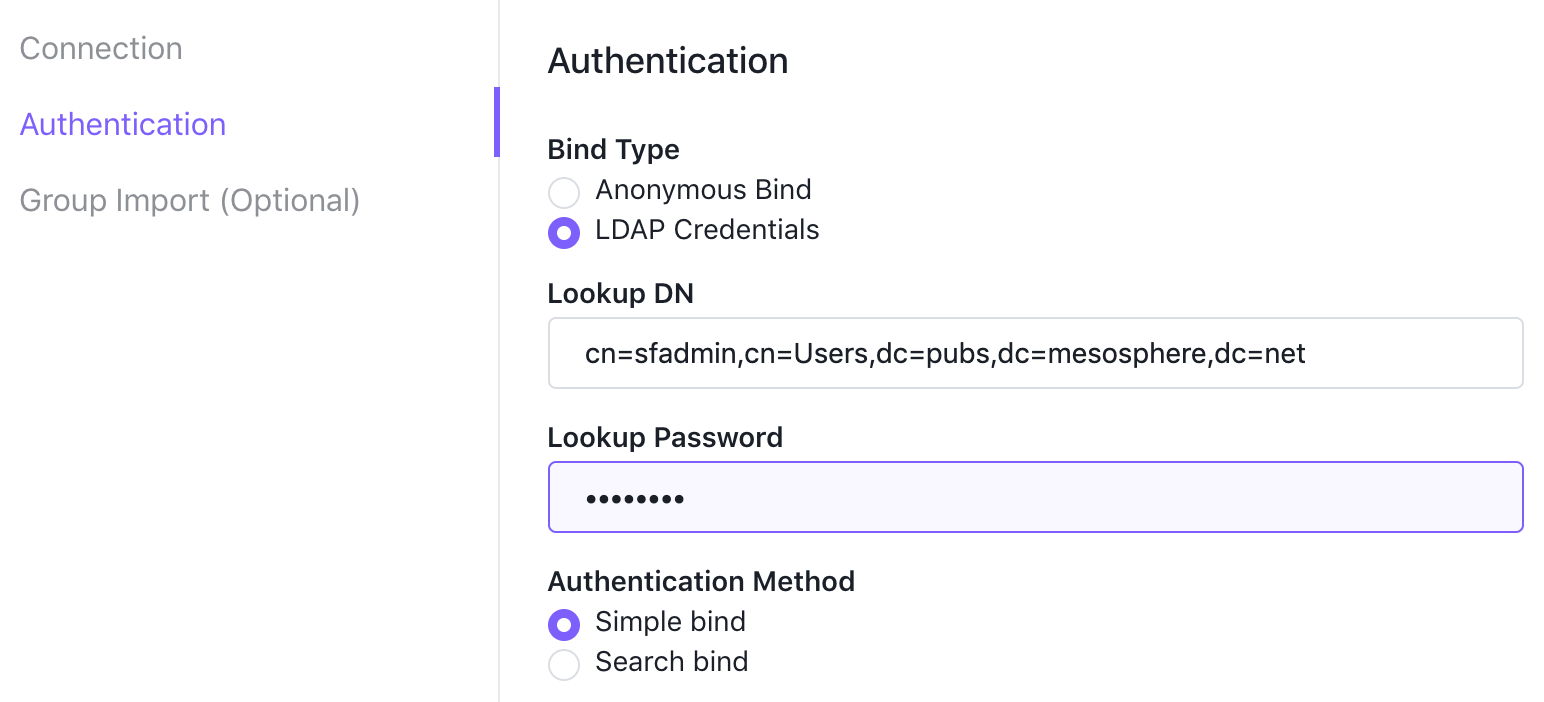Modify authentication information